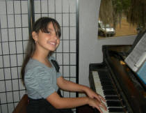 Piano student, Sanford Florida