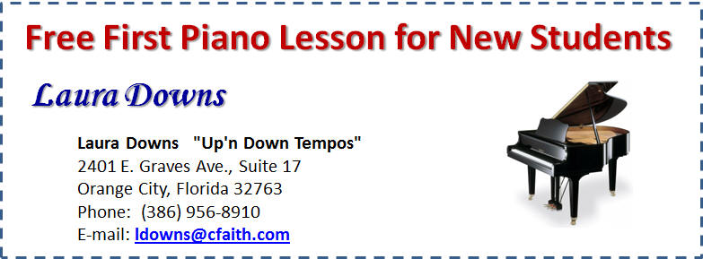 Laura Downs Piano Lesson Coupon